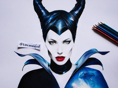 Drawing Maleficent by Toni Mahfud