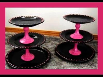 Gebäck Etageren selber herstellen - Tortenplatten selber machen - DIY Etagere - von Kuchenfee