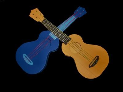 Gitarre aus Papier - Bastelanleitung mit Schablone