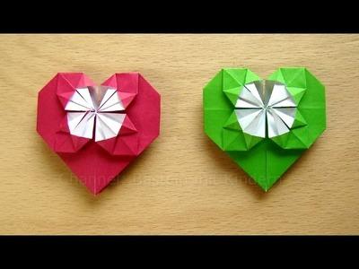 Herz basteln - Geschenk basteln -  Basteln Ideen DIY - Herzen falten