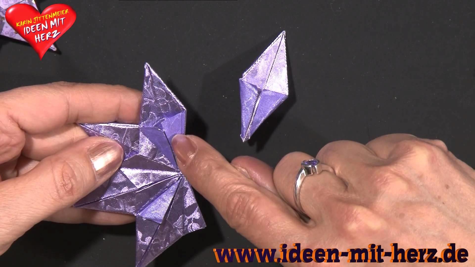 Ideen mit Herz - Origami Stern - Zierstern