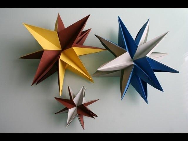 Origami 3D Stern star