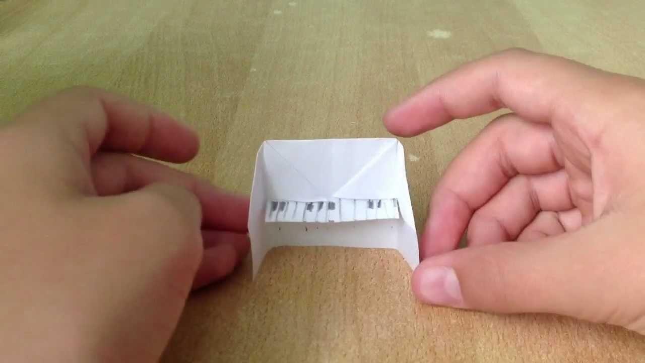Origami Piano selber basteln - Papier Klavier falten