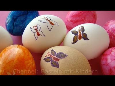 Ostereier bemalen - Osterdeko selber machen - malen lernen