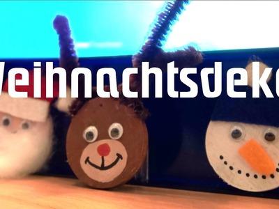 Schnelle Weihnachtsdeko selber basteln ✓ Holz ✓ für Kinder ✓