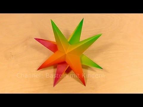 Sterne basteln - Weihnachtssterne basteln - Weihnachtsbasteleien