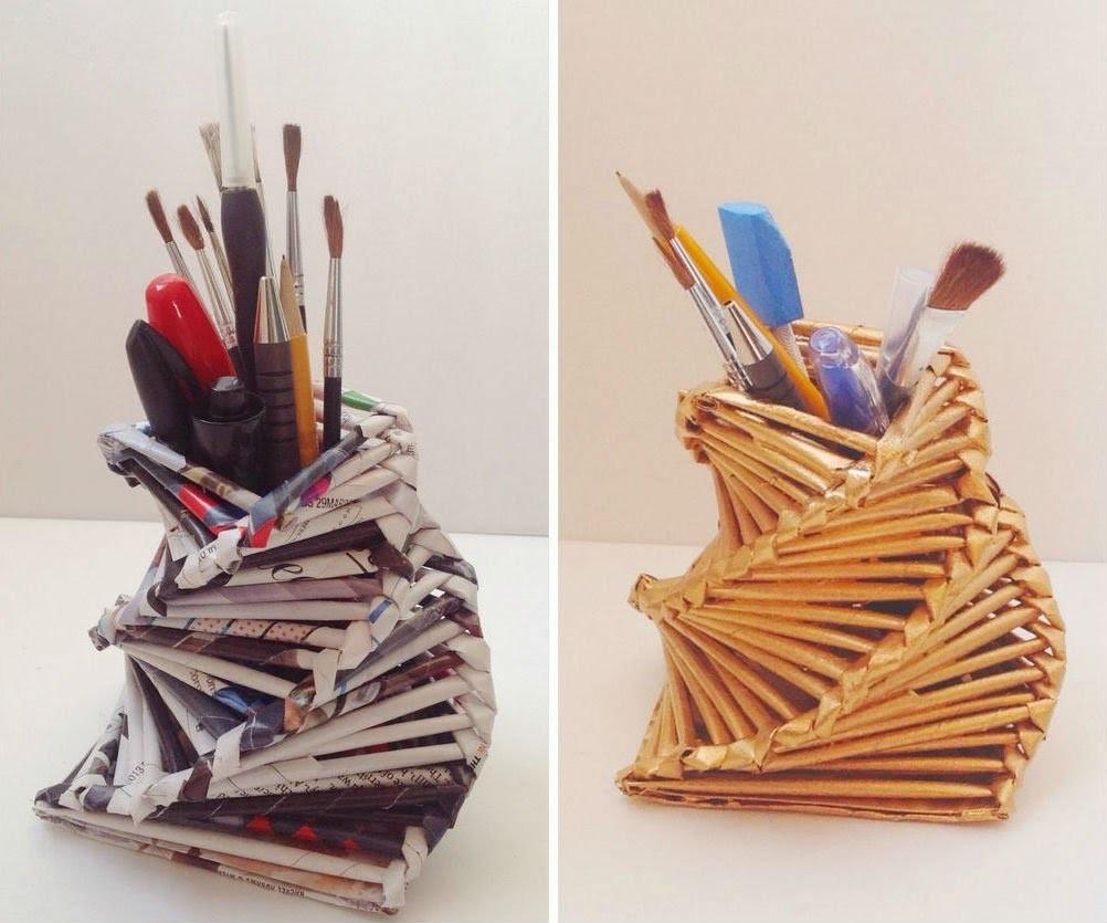 Stiftebox selber machen - Origami stiftebox - Stiftebox basteln