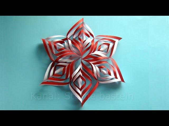 Weihnachtsbasteln: Sterne basteln mit Papier für Weihnachten