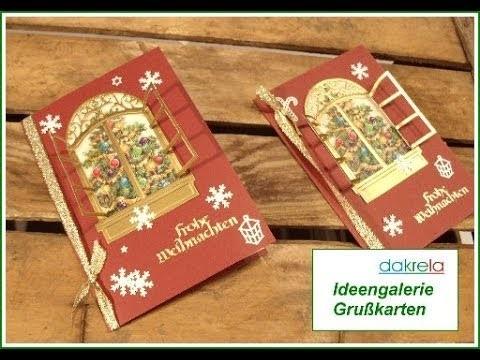 Weihnachtskarte basteln. Christmas card Serie # 2. FENSTER