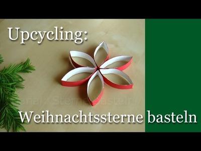 Weihnachtssterne basteln: Upcycling für Weihnachten - Weihnachtsdeko