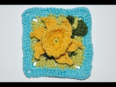 "Adventkalender 20 * Granny Square ""Narcissus"""