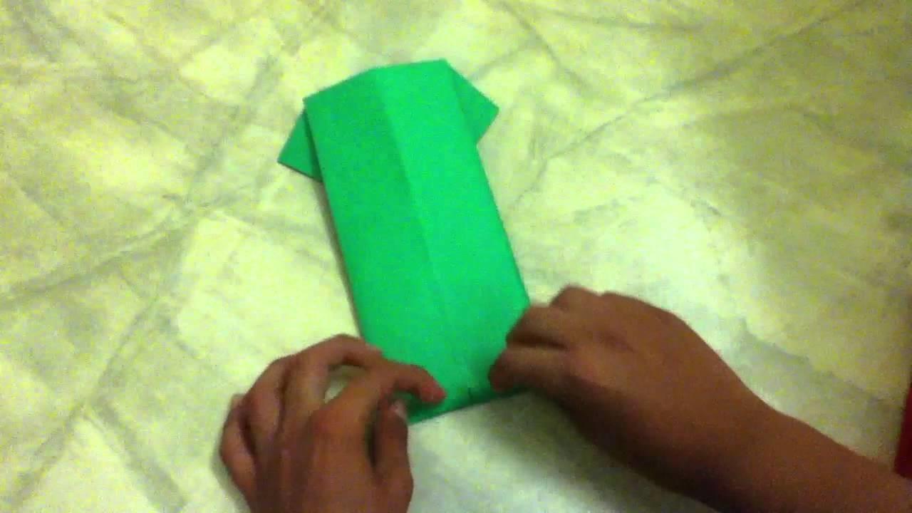Basteln Anleitung: Hemd aus Papier falten - Hemd aus Origami falten