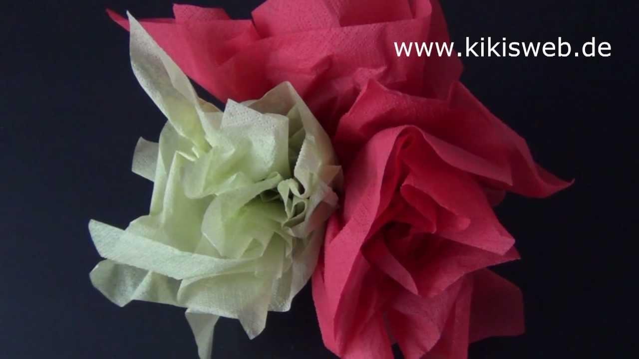Basteln: Einfache Serviettenblume