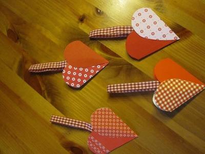 BASTELN MIT PAPIER: Herztasche basteln - Bastelideen Muttertag & Valentinstag