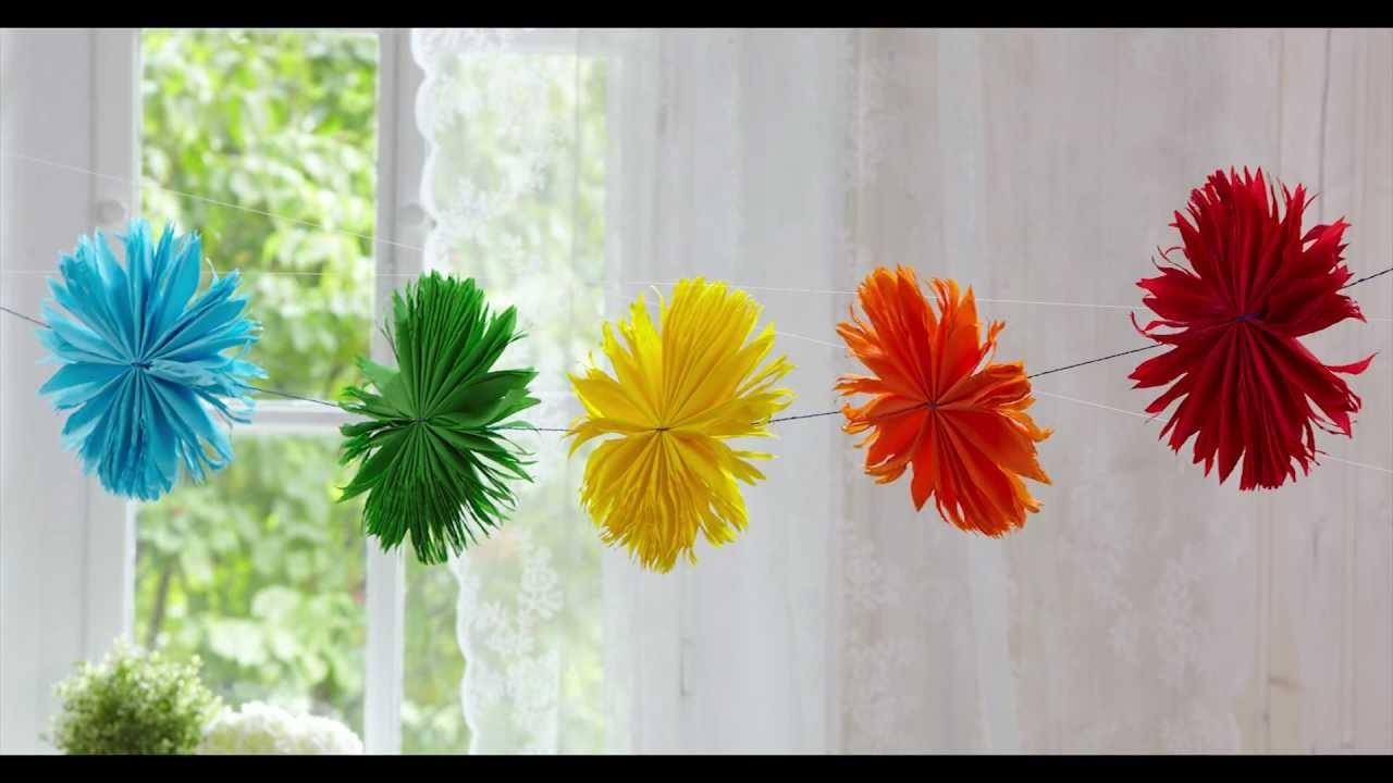 Blumen aus Krepp-Papier: Extra groß