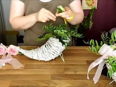Dekorart - Blumen Deko anfertigen, Frischblumen Rosen Gesteck Geschenk Basteln Hochzeit Tischdeko