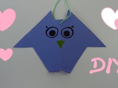 DIY Dekoration - Eule aus Papier. Geschenkanhänger