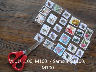 DIY Ohrring aus Briefmarke basteln