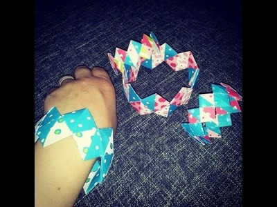 Ein Armband aus Papier - Selber Basteln