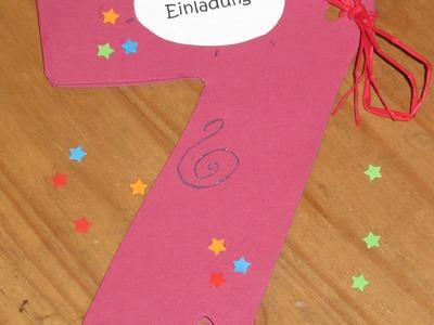 Einladung zum Kindergeburtstag selber basteln