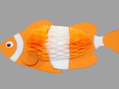 Fisch aus Papier - Bastelanleitung