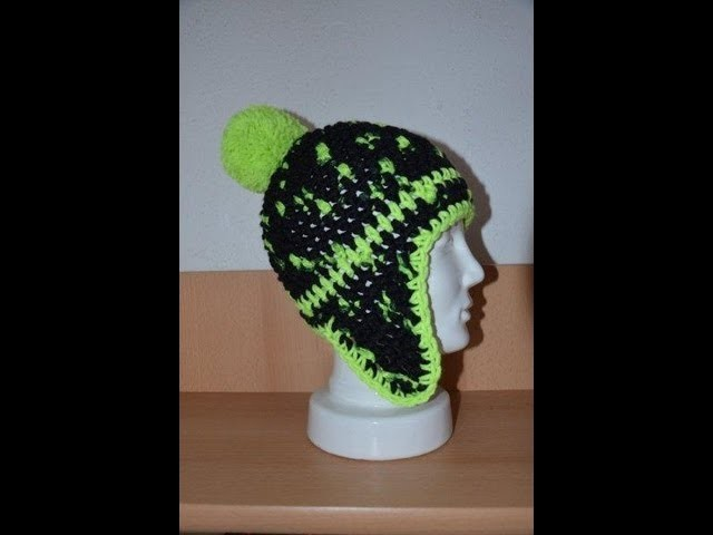 Häkeln - Mütze mit Ohrenklappen aus HATNUT Wolle von Pro Lana