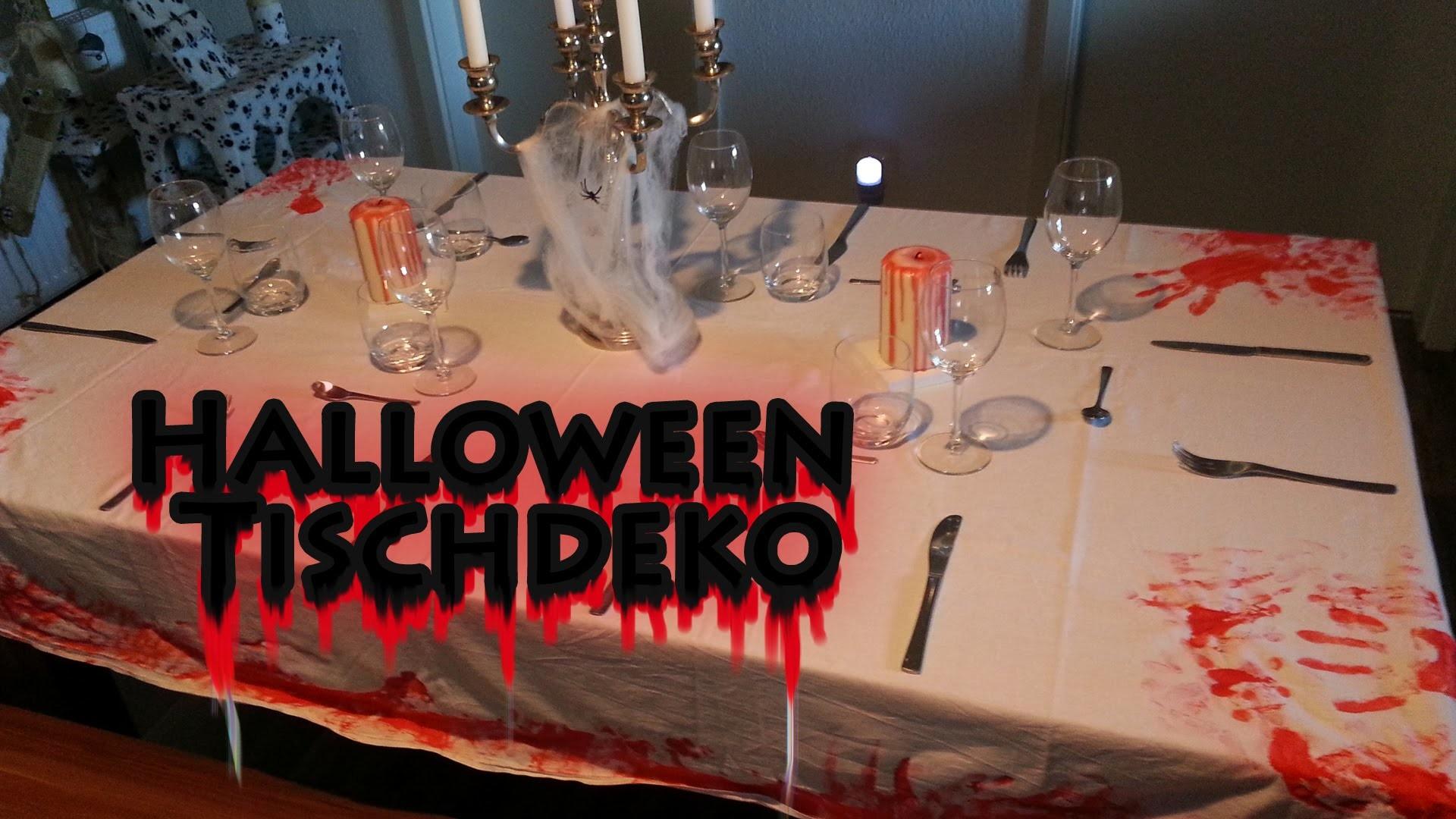 HALLOWEEN TISCHDEKORATION DIY - Party Deko Selber Machen. Basteln [ Last Minute Tipps Neu 2014 ]