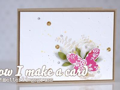 How I make a Card - Schmetterlingsgruss von Stampin' Up! [HD]