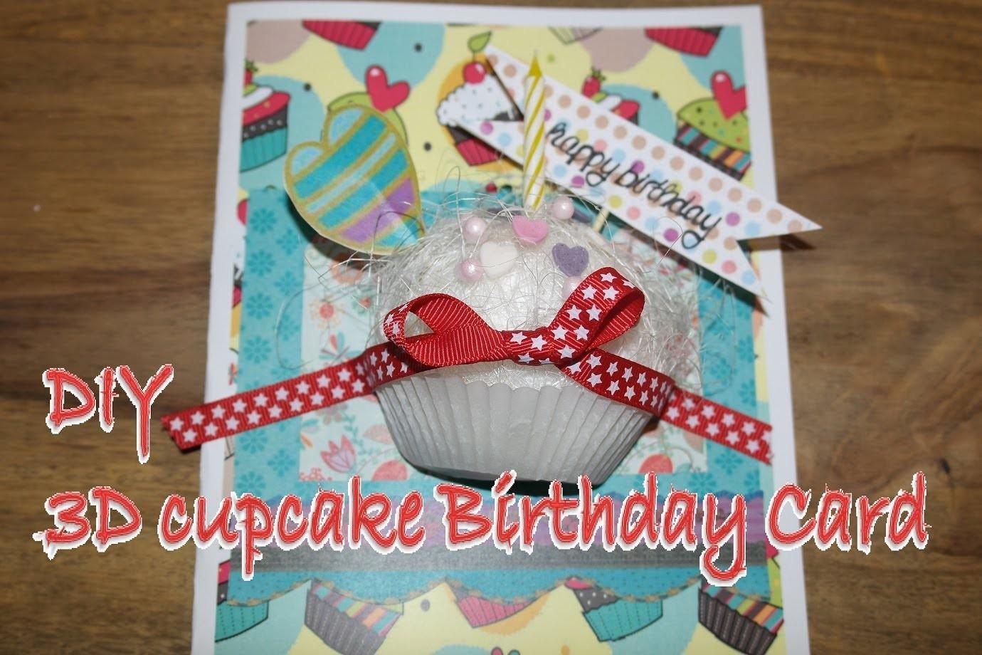 How to make a 3D pop up Birthday Card. 3D Geburtstagskarte leicht selber basteln