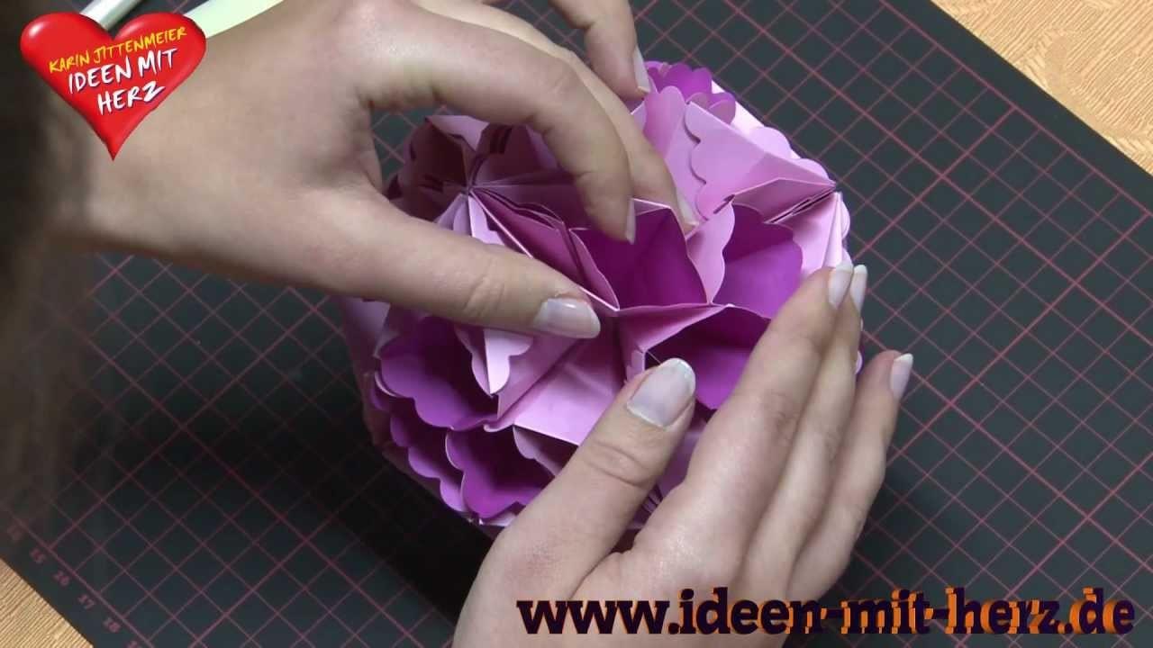 Ideen mit Herz - Fleurogami - Faltkugel Annabelle