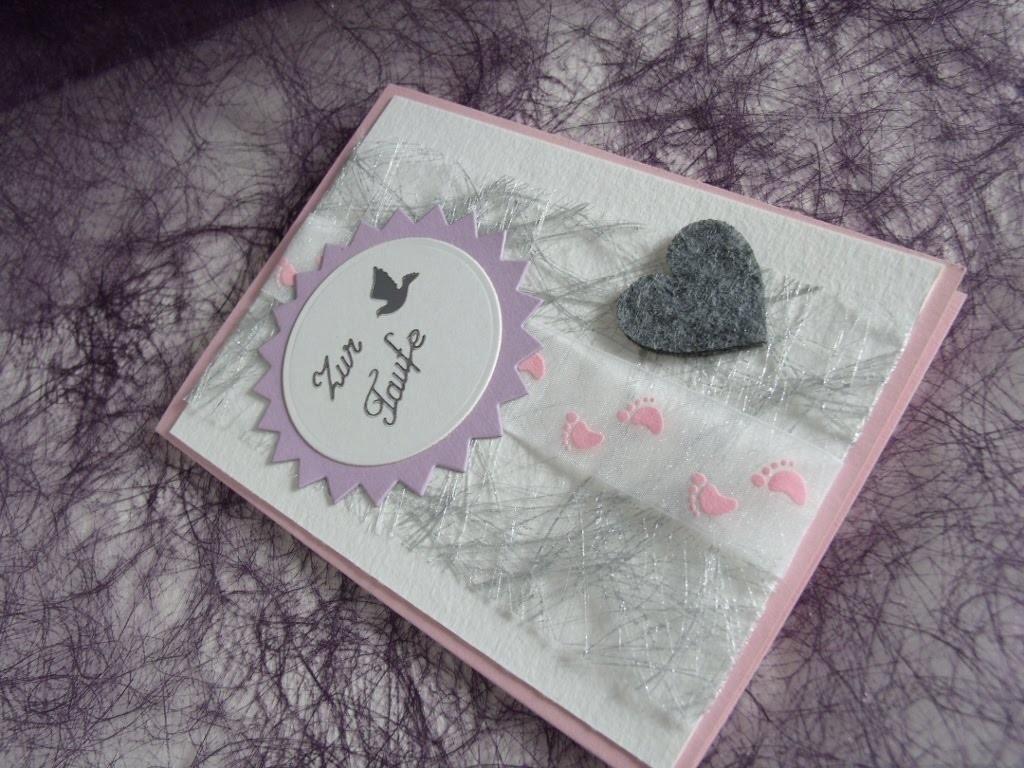 Karte zur Taufe für ein Mädchen selber machen - cardmaking