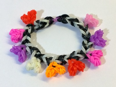 Loom Bands Easy Rainbow Loom Heart Bracelet With Hook No Loom-DIY