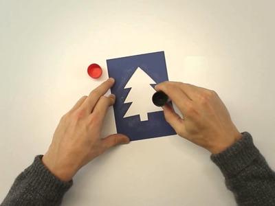 MIGROS: Weihnachtskarte mit Klarsichtmäppli basteln