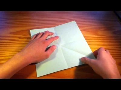 Papierblume basteln - Blume falten