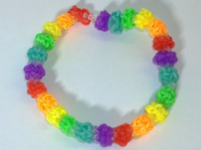 Rainbow Loom Gumdrop Bracelet -Loom Bands Bubble Gum Drops Bracelet With Two Forks. DIY