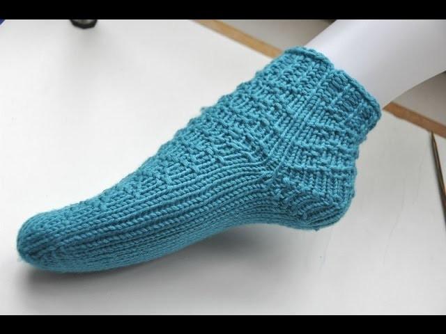 Socken stricken * Super Easy Socken von der Spitze * Teil 3 * Die Ferse