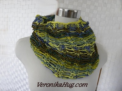 Stricken - Fallmaschen-Loop - Woolly Hugs BANDY 07 - Veronika Hug