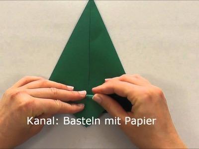 Tannenbaum basteln - Anleitung Weihnachtsbaum basteln