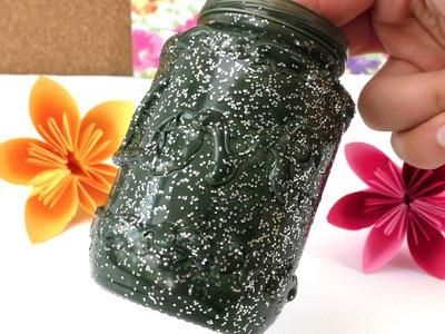 VASE basteln - DIY JAR selber machen, auch geeignet als Aufbewahrung für Stifte, 3D Effekt