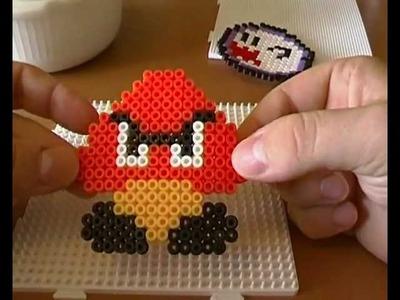 Videospielfiguren basteln mit Bügelperlen