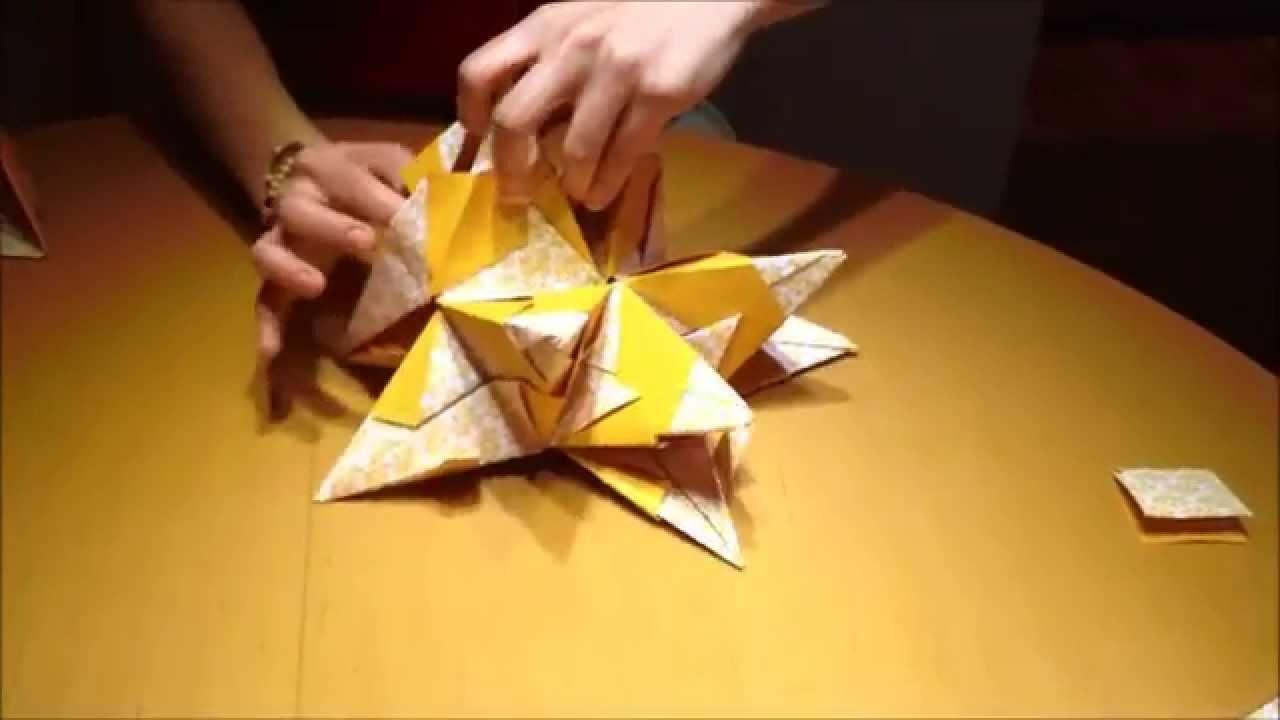 Weihnachtsstern Origami basteln