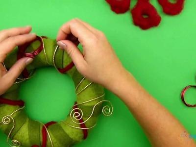 Adventskranz selber basteln für Weihnachten