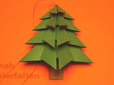 Basteln für Weihnachten, Tannenbaum falten