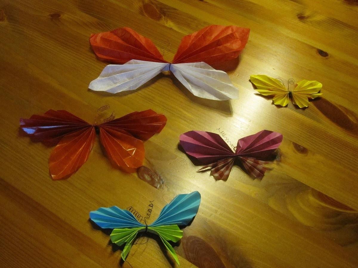 BASTELN MIT PAPIER: Schmetterling falten - Bastelideen mit Papier - Deko basteln