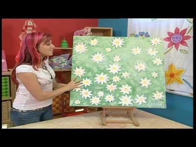 Deko Tipps: Blumenbild basteln, plastische Bilder selbst gemacht