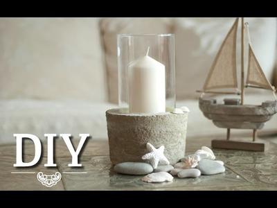 DIY: Coole Deko-Vase.Windlicht aus Glas und Beton selber machen | Deko Kitchen
