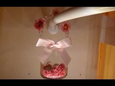DIY Deko. Windlicht. Ostern, Frühling. Glas zum Aufhängen | Osterkörbchen