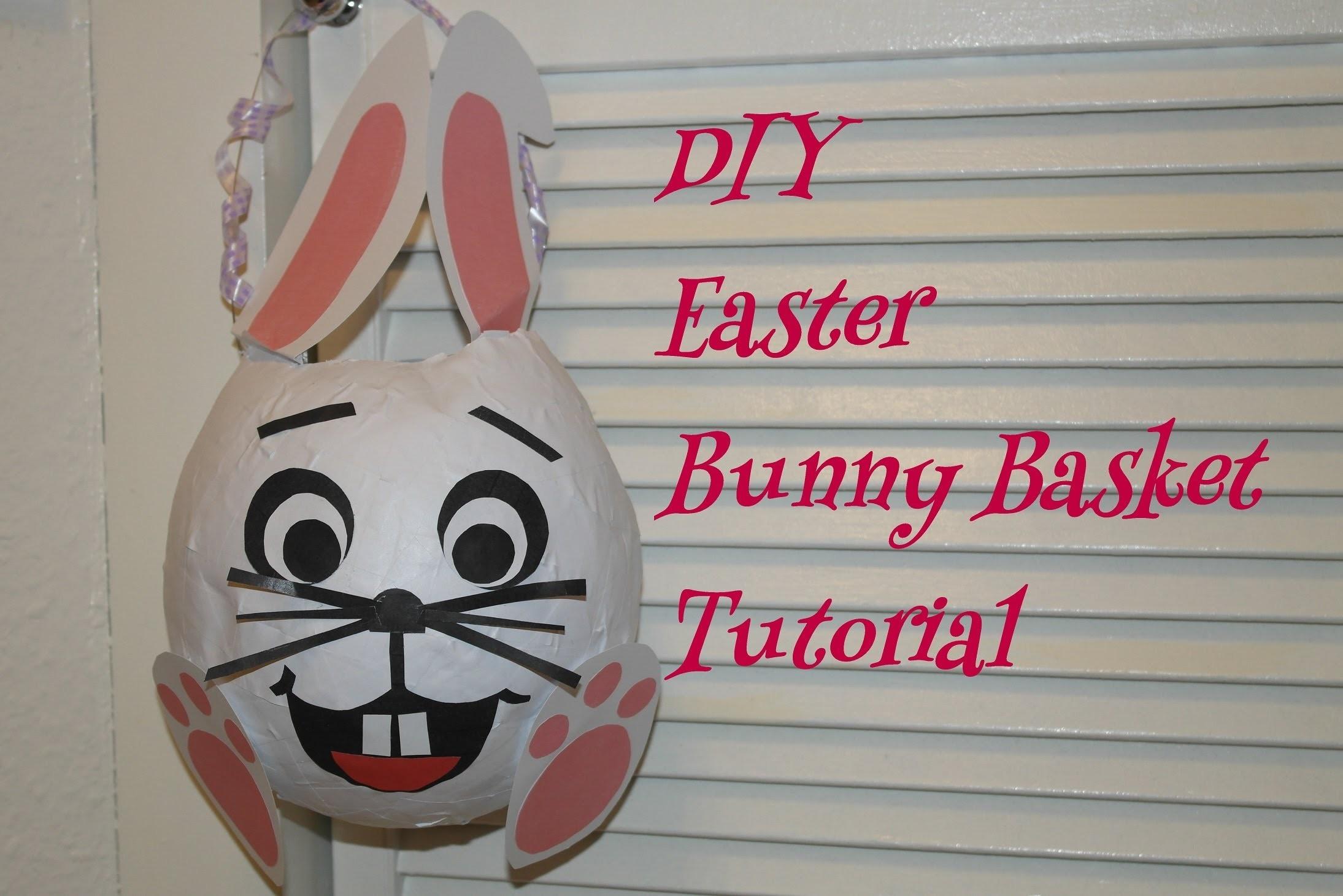 DIY Easter basket. DIY Osterhasen basteln. Easter bunny basket