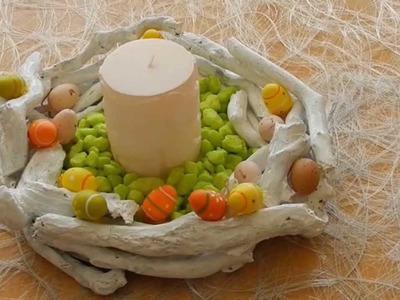 DIY: easy Easter decoration. Deko für Ostern basteln mit Ästen