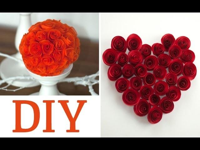 DIY: hübsche Rosen aus Servietten oder Papier | Deko Kitchen